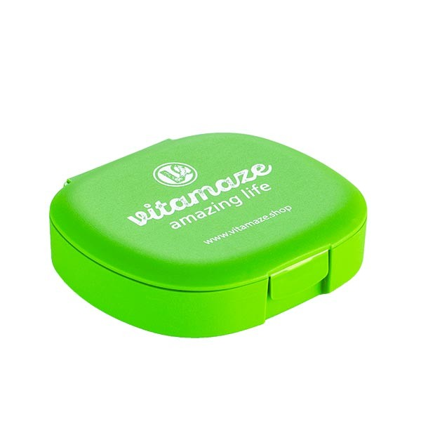 Pill Organiser / Pill Box green with 5 compartments