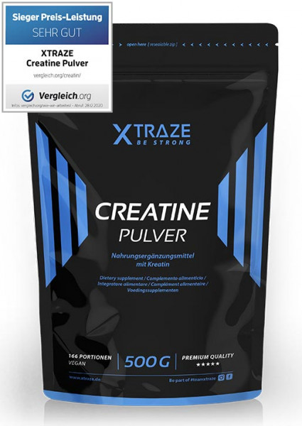 Creatine monohydrate powder vegan, 500 g