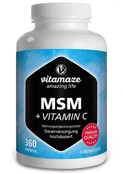 MSM high strength + vitamin C, 360 capsules