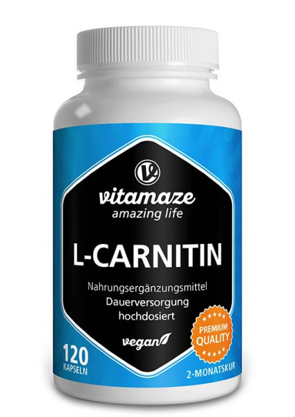 L-carnitine 680 mg Daily dose, 120 vegan capsules