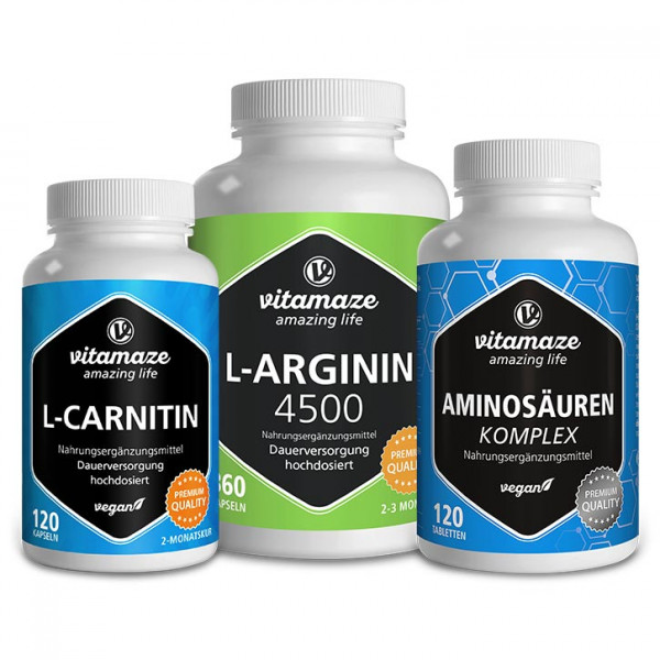 Training package containing L-arginine, L-carnitine & amino acids