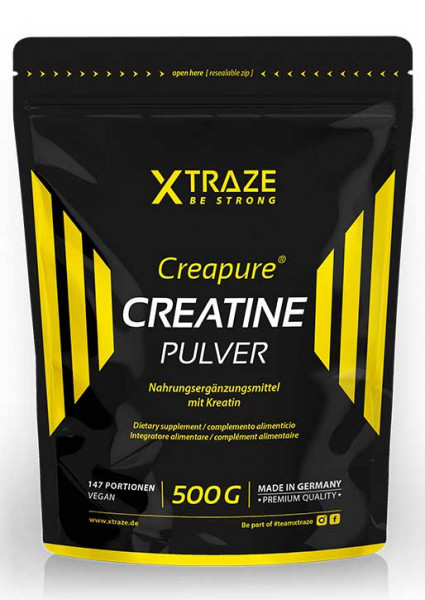 Creatine monohydrate powder with Creapure® vegan, 500 g