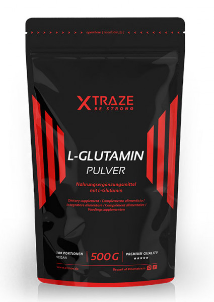 L-glutamine powder vegan, 500 g
