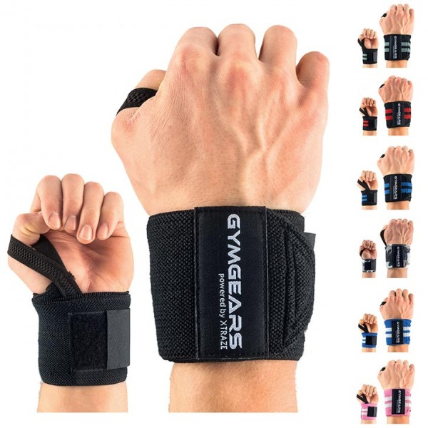 Wrist wraps 45 cm with hook-and-loop fastener, 1 pair