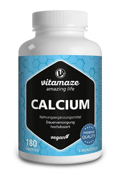 Calcium 400 mg hochdosiert, 180 vegane Tabletten